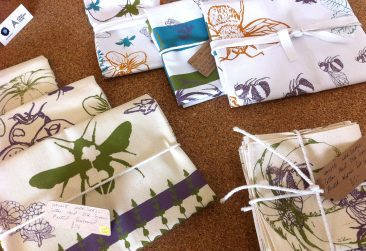 Textiles by Hollie Marshall, Screen printed on sustainably produced cotton