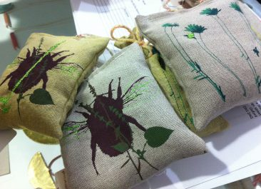 Lavender Bags, Holly Jones, Screen print on organic linen