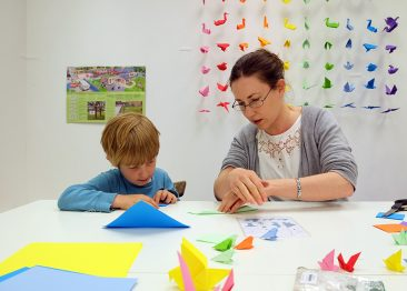 Anne Hobbs - Origami bird workshop with the RSPB
