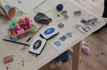 Children's butterfly prints